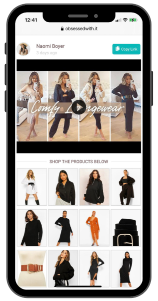Naomi Boyer monetizes her Instagram with MagicLinks ObsessedWithIt