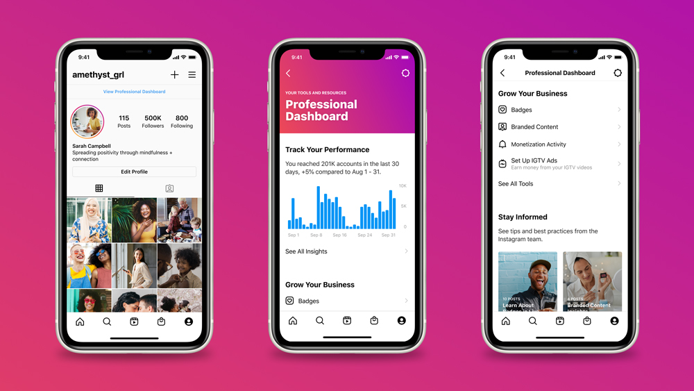 discover the new Instagram Professional Dashboard, a one-stop shop for creators to track performance, educate themselves, and monetize their Instagram.