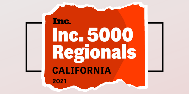 MagicLinks has been named #52 on the Inc 5000 Regionals' Top 250 Fastest Growing Private Companies in California