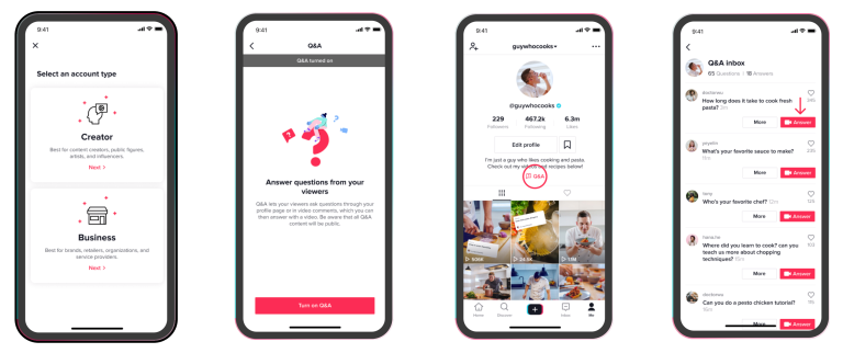 how your fans can use q&a to interact with you on TikTok