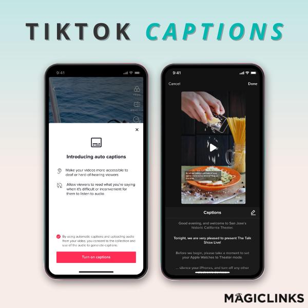 preview of the new tiktok creator feature, tiktok captions