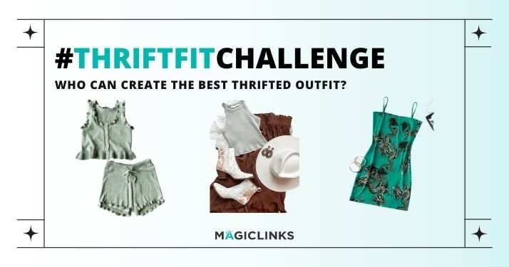 thrifted outfit challenge for influencers
